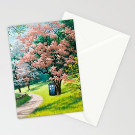 Tardis Art At The Tree Blossom Stationery Cards