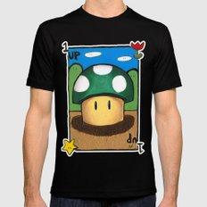 1Up Super Mario Black MEDIUM Mens Fitted Tee