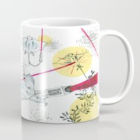 guns Mugs featuring Ray Guns by Sarah Emily Kirk