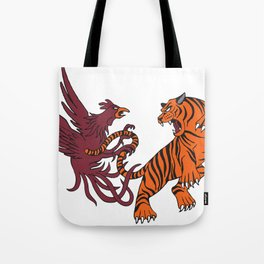 Cocks vs Tigers Tote Bag