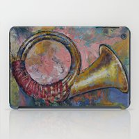 hunting iPad Cases featuring Hunting Horn by Michael Creese
