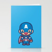captain silva Stationery Cards featuring Captain by Papyroo