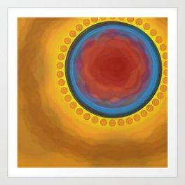 Circle the Orange Satellites Art Print