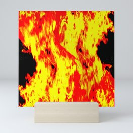 concentrated fire Mini Art Print