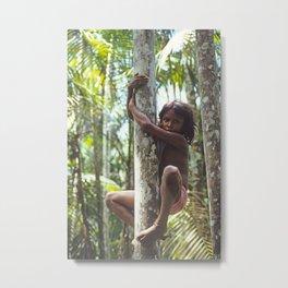 Climbing Trees Metal Print