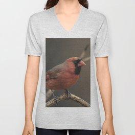 Red cardinal 7686 Unisex V-Neck