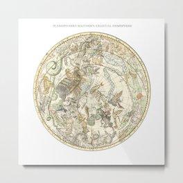 Zodiac Constellation - Southern Sky Metal Print