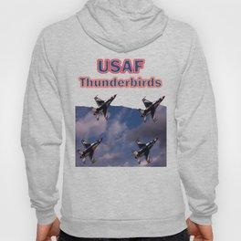 USAF Thunderbirds In Diamond Formation Hoody