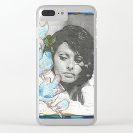 Sophia and the blue birds Clear iPhone Case