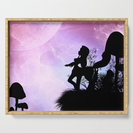 Cute centaurs silhouette Serving Tray