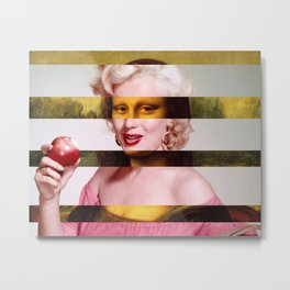 "Leonardo Da Vinci's ""Mona Lisa"" & Marylin Monroe Metal Print"