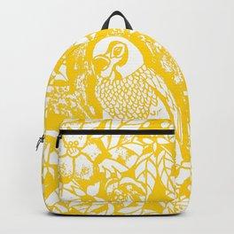 Gen Z Yellow Parakeet Lino Cut Backpack