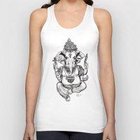 ganesha Tank Tops featuring Ganesha by emspressionism