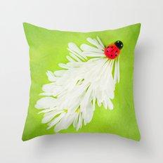 Ladybug Trail Throw Pillow