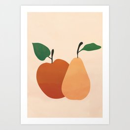 An Apple and a Pear Art Print