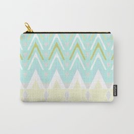 Pastel Chevron 5 Carry-All Pouch