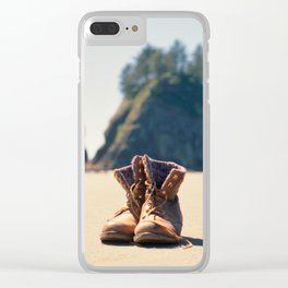 Dirty Shoes Happy Soles Clear iPhone Case