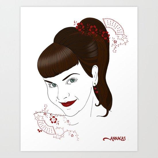 Cherry earings Art Print