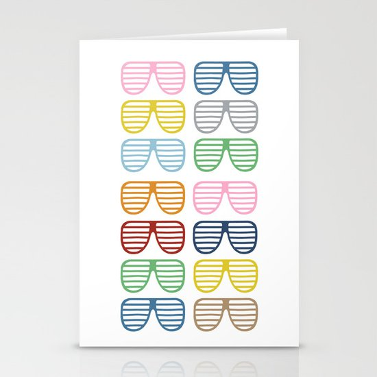 Rainbow Shutter Shades Stationery Cards