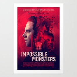 """""""Impossible Monsters"""" Theatrical Movie Poster Art Print"""