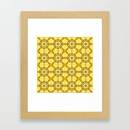 Yellow azulejos Framed Art Print