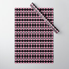 Pink Flamingos Art Deco Pattern Wrapping Paper