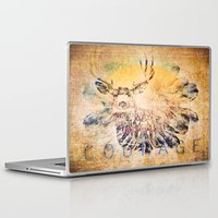 courage Laptop & iPad Skins featuring Courage by Jessica Lewis Designs