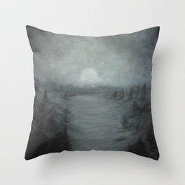 Moonlight Valley Throw Pillow