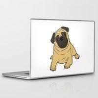 pug Laptop & iPad Skins featuring PUG by Elena O'Neill