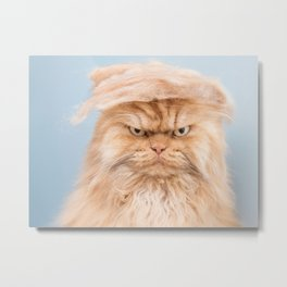 Trumpy Cat Metal Print