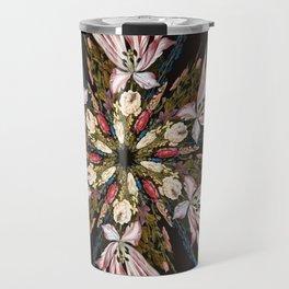 Flemish Floral Mandala Travel Mug