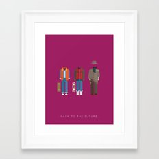Back To The Future | Famous Costumes Framed Art Print