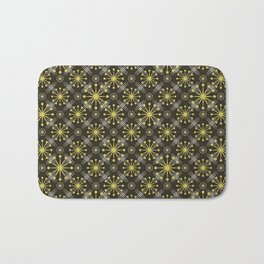 Starburst and Lines Mid Century Earth Colors Bath Mat