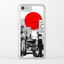 Tokyo street sunrise Clear iPhone Case