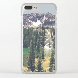 Mountain Scene Clear iPhone Case