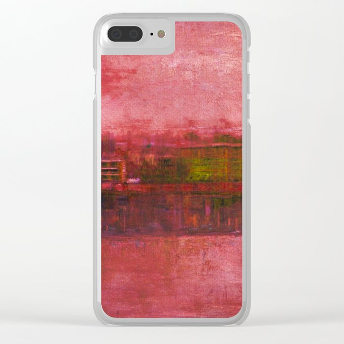 Purple Sunset Clear iPhone Case