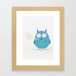 That was a hoot! Framed Art Print