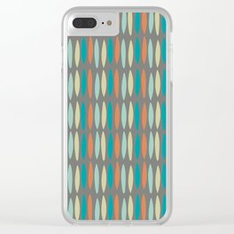 Contemporary Mid-Century Modern Geometric Pattern Clear iPhone Case