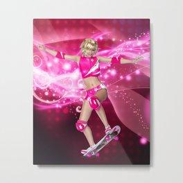 Skater Girl Metal Print