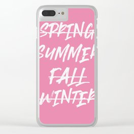 Summer Only - summer quote Clear iPhone Case