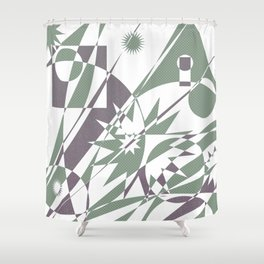 The Summit Afterglow Shower Curtain