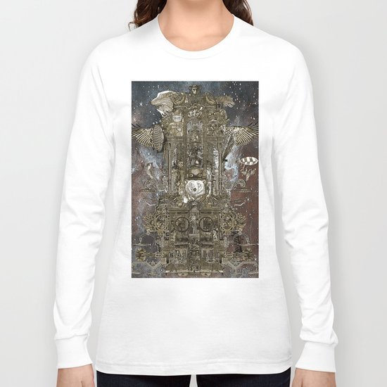 Steampunk Space Transport Long Sleeve T-shirt