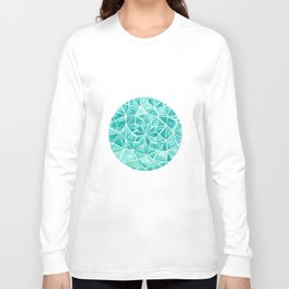 Watercolor Aquamarine Jewel Long Sleeve T-shirt