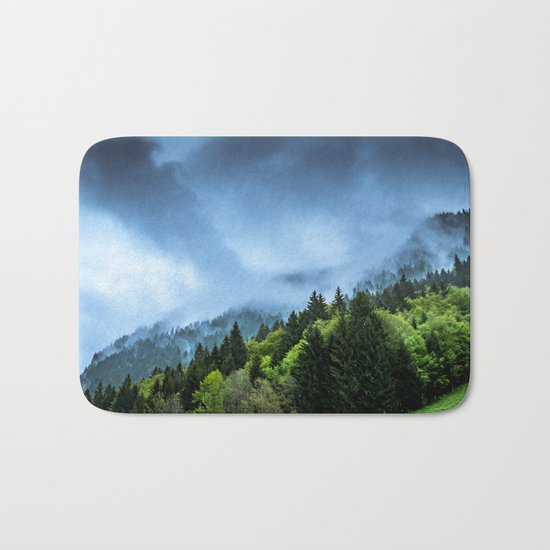 Landscape fog #society6 Bath Mat