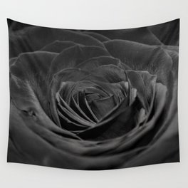 Grey Rose Wall Tapestry