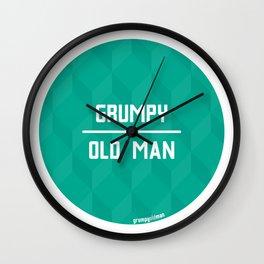 Grumpy Old Man Wall Clock