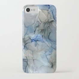 Rippling Water: Original Abstract Alcohol Ink Painting iPhone Case