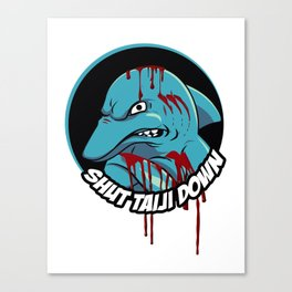 Shut Taiji Down - Blue Canvas Print