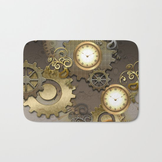 Abstract mechanical design Bath Mat