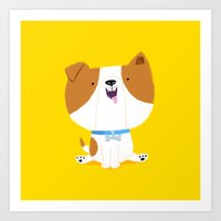 puppy Art Prints featuring Puppy by Chris Chatterton